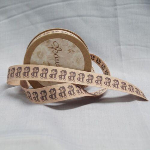 Bowtique Grosgrain Cheeky Monkey Ribbon 15mm x 5m Reel