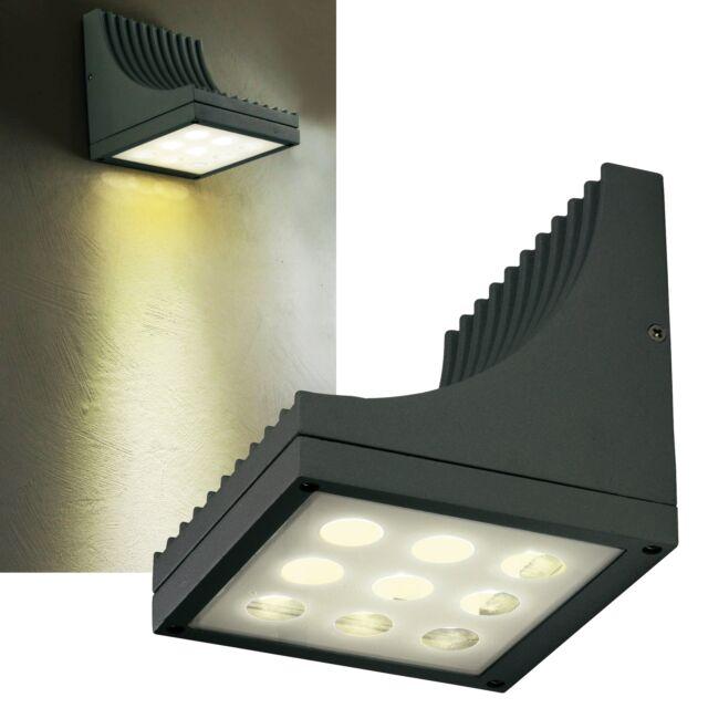 LED Applique Extérieure 320lm IP54 230V 14W EEK: A Haut Bas Luminaire Haus-Wand