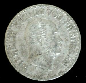 1868-WILHELM-I-PRUSSIA-1-SILBER-GROSCHEN-Silver-COIN-Condition-XF