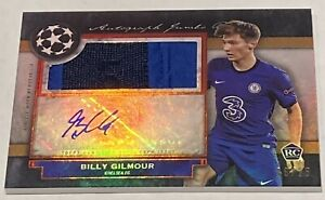2020-21 BILLY GILMOUR TOPPS MUSEUM UEFA CL AUTO JUMBO PATCH RC /25 B