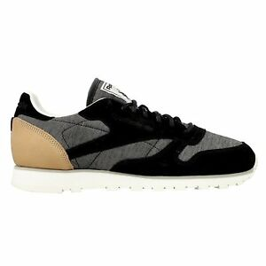 b0839af78b92 Image is loading REEBOK-Classic-Leather-Fleck-Mens-Sneakers-Trainers-AQ9723