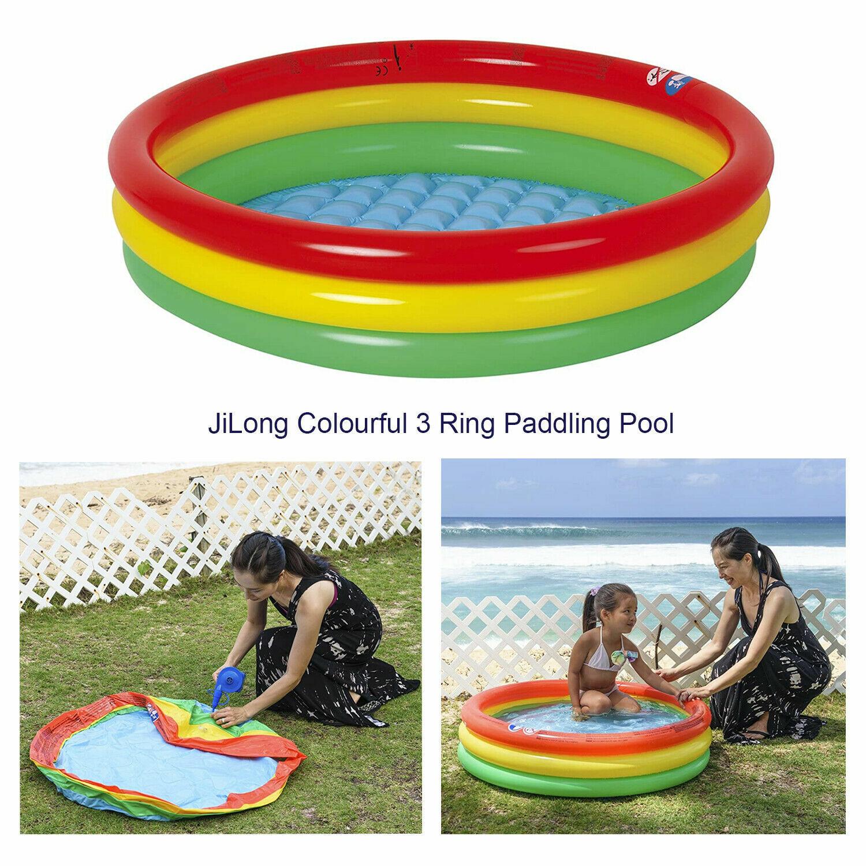 Kids Toddlers Babys Inflatable Fun Rainbow Splash Garden Swimming Paddling Pool
