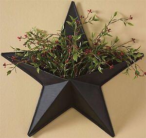 Metal Wall Vase park designs black star wall pocket metal wall vase | ebay