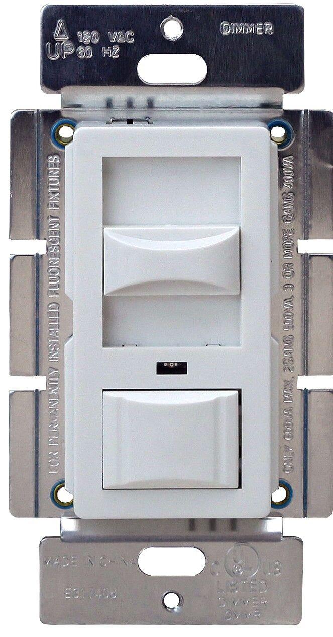 single pole 3 way light dimmer wall switch for incandescent halogen 120v 600w ebay. Black Bedroom Furniture Sets. Home Design Ideas