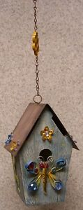 Bird House Dragonfly NEW Polyresin and sheet metal