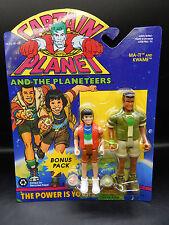 1994 vintage CAPTAIN PLANET Ma-Ti & Kwame Planeteer action figure Tiger Toys MOC