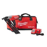 Milwaukee Fuel M18 18v 15g Brushless Finish Nailer Kit 2743-21ct on sale