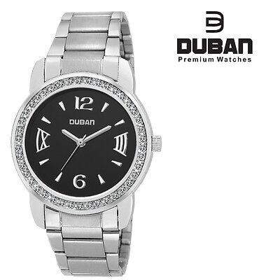 Duban Premium  Diamond  Dial Metal Strap  Women's / Girls Watch