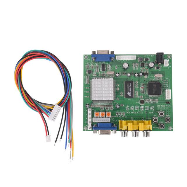 Arcade Game RGB/CGA/EGA/YUV to VGA HD Video Converter Board HD9800/GBS8200 SVVUS