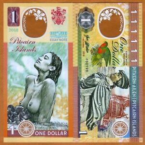 Pitcairn-Islands-1-Private-issue-Clear-window-Polymer-2018-Polynesian-Nude