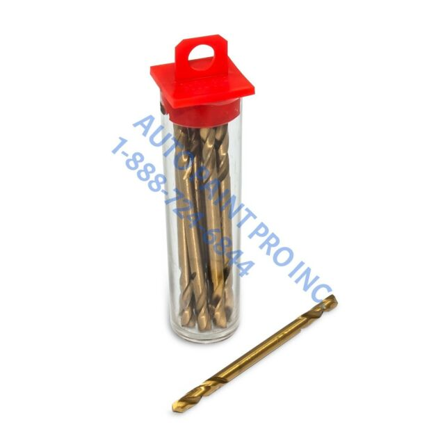 100 pc Double Ended Cobalt M35 Drill Bits 1//8