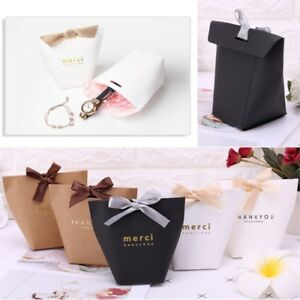 5pcs Merci Beaucoup Paper Candy Chocolate Cake Boxes Wedding Favors