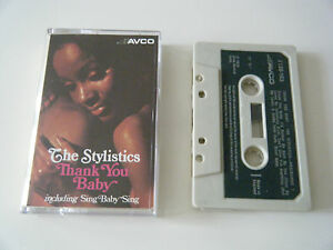 THE-STYLISTICS-THANK-YOU-BABY-CASSETTE-TAPE-ALBUM-1975-GREEN-PAPER-LABEL-AVCO-UK
