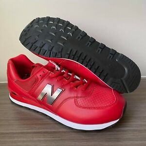 New-Balance-574-Red-Leather-Shoes-Men-039-s-Size-16-ML574SOY