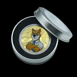Gold SHIBA INU COIN CRYPTO Coin Shiba Shib Dogecoin Killer Gold Coin In Gift Box