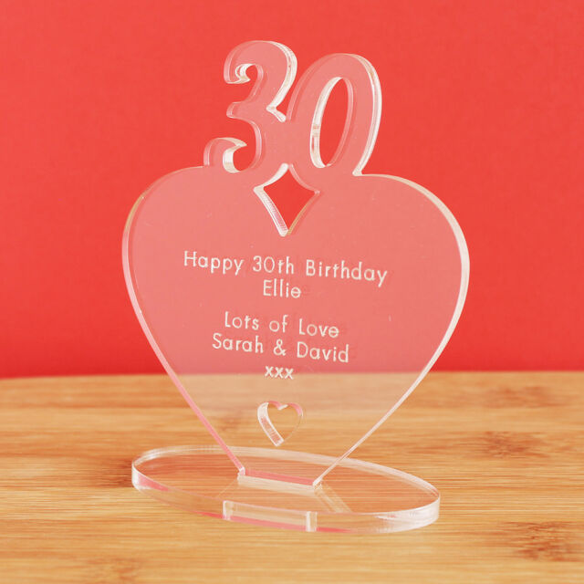 30th Birthday Personalised Milestone Heart Keepsake Gift Idea For HIM OR HER