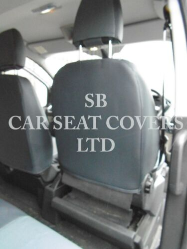 SA4 GREY LEATHERETTE TO FIT A FORD TRANSIT CUSTOM VAN 2014 SEAT COVER