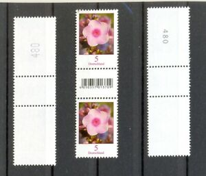 PHLOX-Bund-MiNr-3296R-2-Paare-EAN-Zwischensteg-mit-gleicher-Nummer-gross-klein