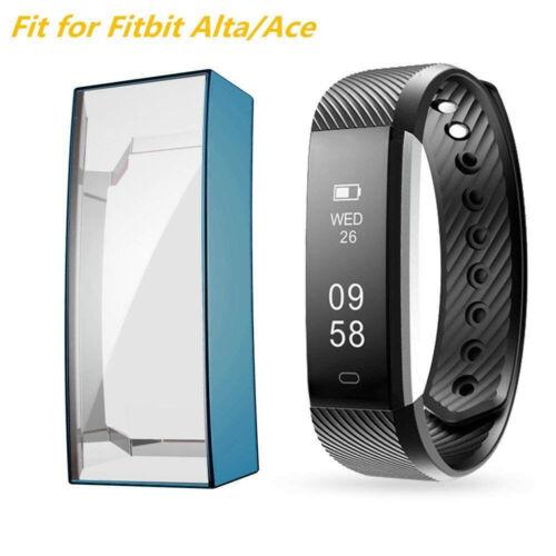 Alta HR Soft TPU Full Cover Screen protector Clear Slim Case For Fitbit Alta