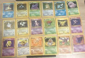 vintage-pokemon-cards-lot-10-Cards-Guaranteed-Holo-amp-1st-Edition-Every-Lot