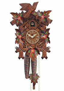 HerrZeit by Adolf Herr Cuckoo Clock  - Spring Flowers AH 80/6 NEW