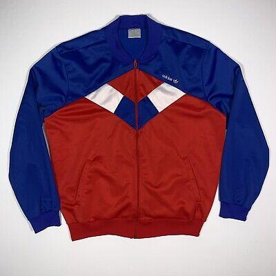 Vintage 80s Adidas Trefoil Track Jacket