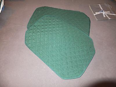 Offen 6 Platzsets Platzmatten Dunkelgrün Steppung Dekorateur