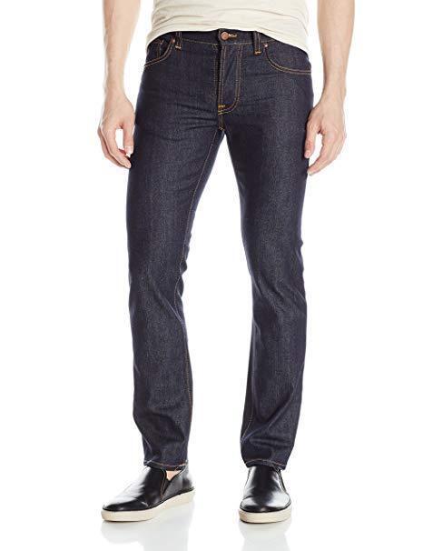 Nudie Jeans W34 L30 Grim Tim Herren Jeans Hose Straight Blau Neu A6271