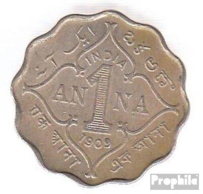 504 1908 Sehr Schön Kupfer-nickel 1908 1 Anna Edward Vii High Quality And Inexpensive Indien Km-nr