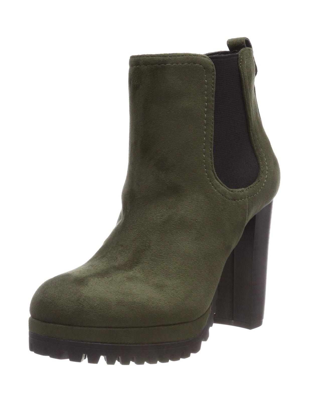 Buffalo Women''s Canary Fabric Ankle Boots Green (Kaki 00) 4 UK