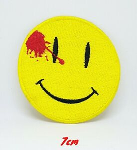 Watchmen-Dead-Smiley-Face-Iron-on-Sew-on-Embroidered-Patch-171