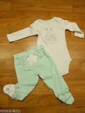 """BABY BOYS CARTERS """"MY 1ST EASTER"""" BUNNY OUTFIT~BODYSUIT PANTS~NEWBORN~NWT"""