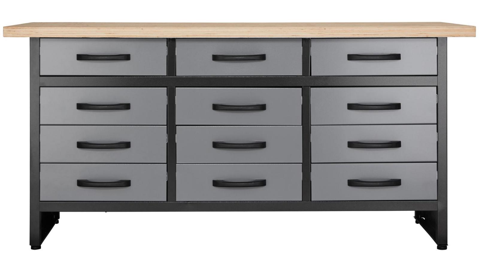 Werkstatt Werkbank 170 Cm 15 Schubladen Profiqualität | eBay