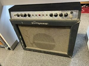Vintage 60's Ampeg Gemini 1 Two Channel Tube Guitar Amplifier Combo Amp Weber