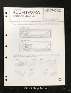 [SCHEMATICS_44OR]  Original Kenwood KDC-419 / X459 CD Receiver Service Manual | eBay | Kenwood Kdc 419 Wiring Diagram Stereo |  | eBay
