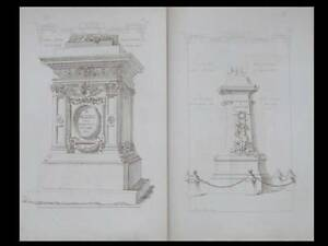Architecture, Socles, Bases - Gravures 1872 - Materiaux Et Documents, Raguenet Excellente Qualité