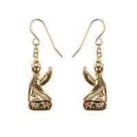 Egyptian Deity God Horus Earrings Set of 2. Ancient Egypt Fashion Jewelry
