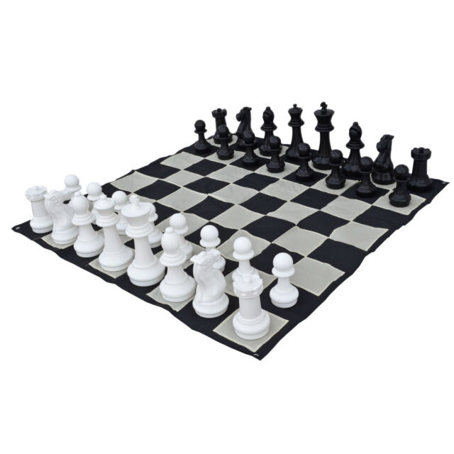 Premium 40cm (16 Inch) Giant Chess Pieces and Nylon Mat