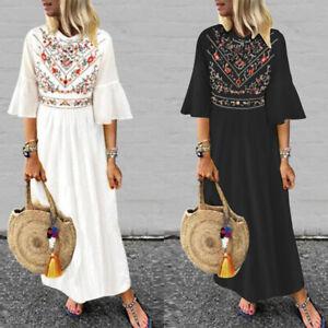 ZANZEA-8-24-Women-Floral-Sundress-Kaftan-Caftan-Abaya-Plus-Size-Long-Maxi-Dress