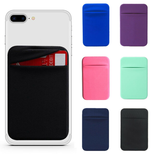 pretty nice 07da0 9074a Silicone Credit Card Holder Pocket Sticker Adhesive Pouch Case For Cell  Phone
