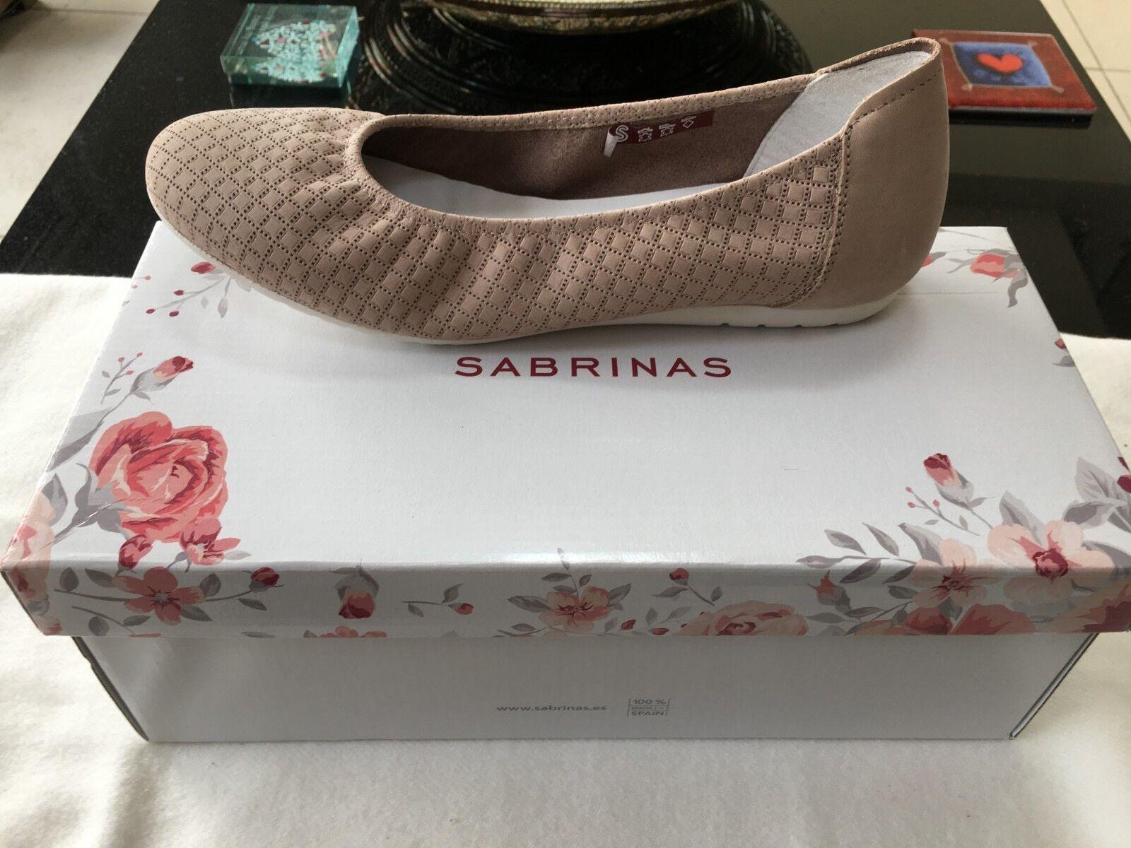 Sabrinas Flat Pump Tierra Beige Womens Size 4UK