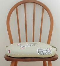 Tie on chair pad, Foam seat cushion, kitchen chair pad.Zipped covers. Handmade