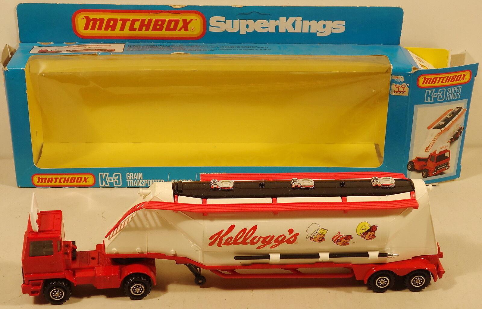 DTE Lesney Matchbox súperkings SK-3 Lrg  Kellogg's  Etiqueta grano Transportador Nuevo En Caja Original