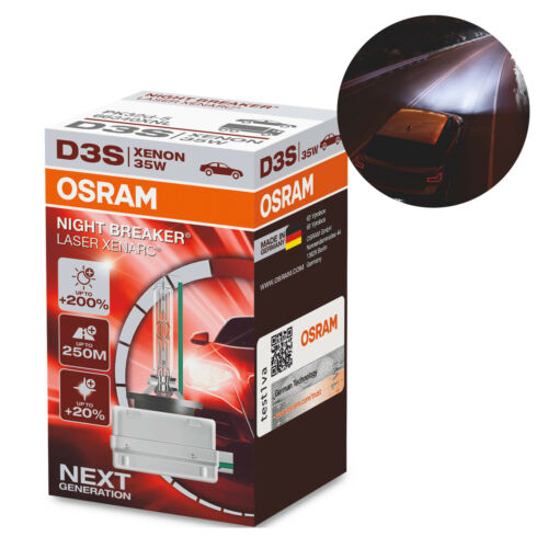 Osram D3S Night Breaker Laser Headlight Xenarc Bulb Xenon HID GAS 35W 66340XNL