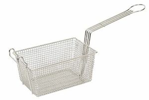 """Heavy Duty Commercial Fry Basket With Hook - 340 x 220 x 145mm.  13"""" x 9"""" x 6"""""""
