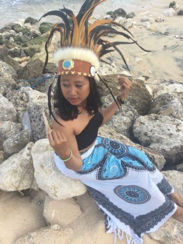 était Bonnet Pocahontas Ressort hotte genre Chausses de cuir Squaw Indian Headdress Coiffe Indienne