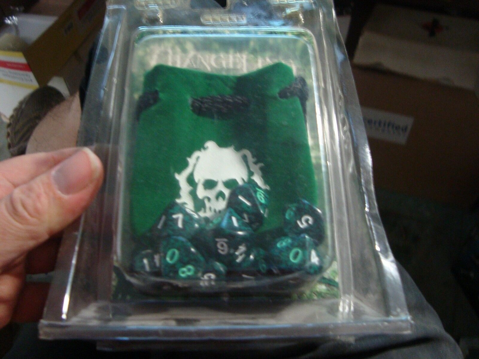 Changeling The Lost 2007 10x Dice Set 10 -sidig och Dice Bag New Oöppnad