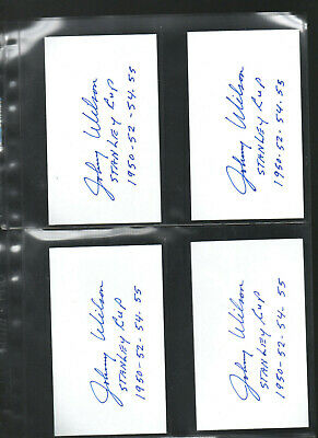 10 Johnny Wilson Autograph/auto/hand-signed Index Card 3x5 A Ingenious