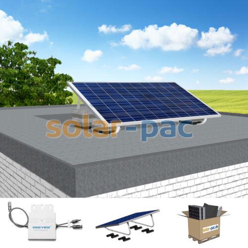 Mini-Solaranlage 275 Watt für Garten//TerrassePlug /& Play Steckdosenanschluss