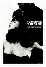 Cuban movie Poster for film TORTURE and Kiss.Italian.Collectable Graphic Design